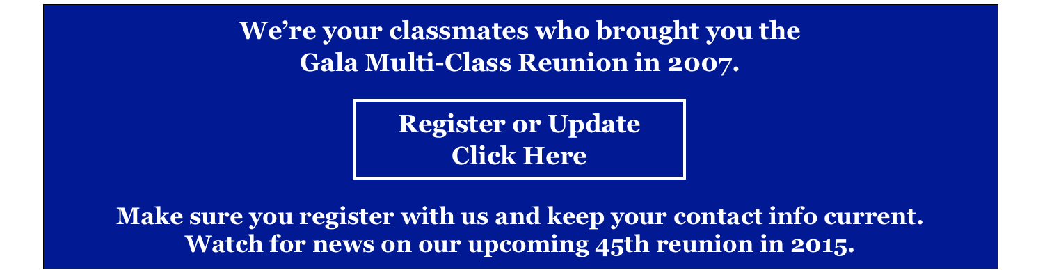 We're your classmates who brought you the